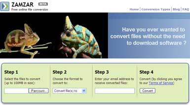 Zamzar - Free online conversion tool